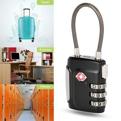 TSA Security 3/4 Digit Combination Travel Suitcase Luggage Bag Code Lock Padlock