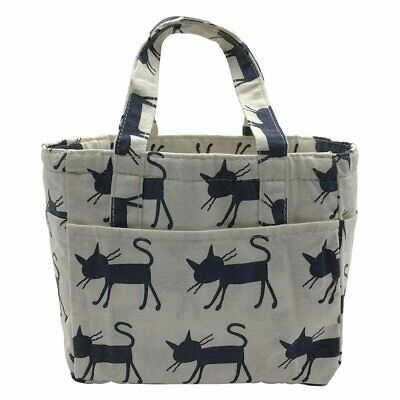 f336431c93db CAT LUNCH BAG Reusable Tote storage Insulated Cooler Purse Handbag with  Straps