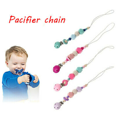 Product Infant Silicone Beads  Soother Holder Baby Pacifier Chain Dummy Clasps