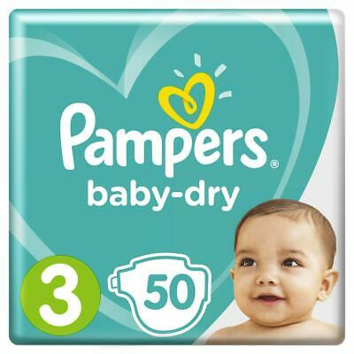 Pampers Baby-Dry Nappies Size 3 Crawler 6kg-10kg 50 Nappies 12 hours Dryness
