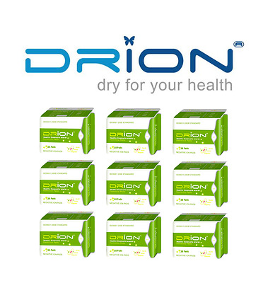 DRION Negative Ion Far Infrared Menstrual Sanitary Pad PANTILINERS - 9 PACK