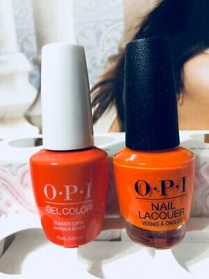 89b882f3415 OPI SUMMER LOVIN' Having A Blast! Gel 05.oz and Nail Lacquer 05.oz DUO