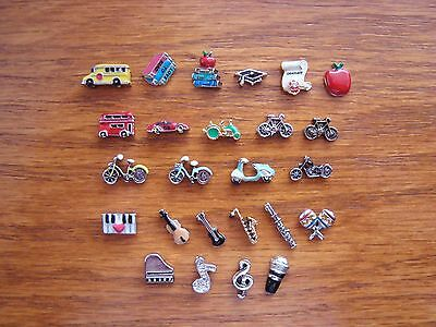 """Authentic Origami Owl  """"Your Choice"""" of Charms - School/Vehicles/Music (#4)+ A?"""