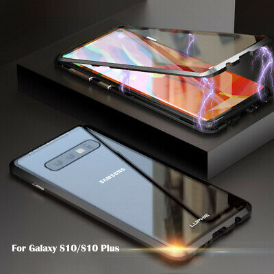 For Samsung Galaxy S10E 360° Magnetic Adsorption Tempered Glass PC Case Cover