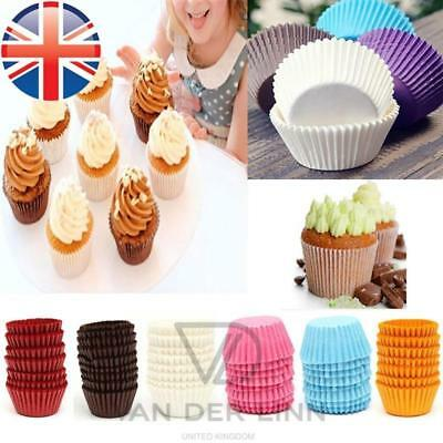 PREMIUM QUALITY Paper Cupcake Muffin Cases Greaseproof Baking Cup UK