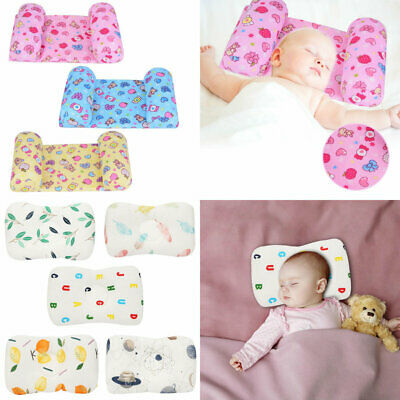 Anti Flat Head Syndrome Cushion Baby Pillow Soft Cotton Foam Infant Head Support