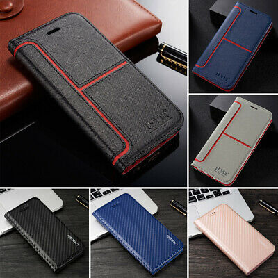 Magnetic Flip Stand Card Cover Wallet Leather Case For Samsung J6 S8 S9 A7 S10 +