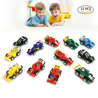 DMbaby Toys For 3 4 Year Old Boys Pull Back Vehicles 12 Pack Toy