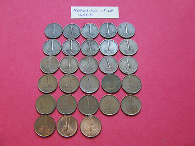 Netherlands One Cent Coins 1948 - 1979
