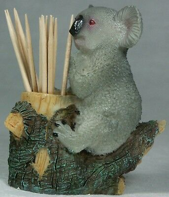 "Koala Tooth Pick Holder 8cm (3.25"") Brand NEW Poly Resin KOATP 9319844264259"