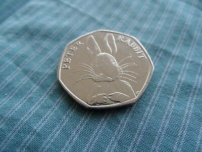 2016 Peter Rabbit 50p Coin Circulated Uncleaned