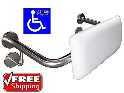 Toilet Backrest Safety Rail As1428.1 Grab Bar Disabled Stainless Steel Back Rest