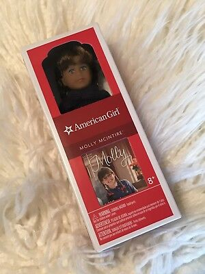 🌟 NEW American Girl MOLLY MCINTIRE  Mini Doll 6 Inches Book Dollhouse GLASSES