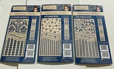 Bundle Job Lot of 3 Tattered Lace Embossing Folders Victorian Rose Baroque Swirl