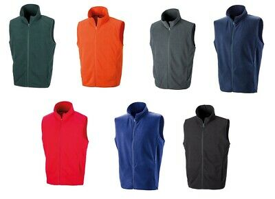 Result Core Men Micro Fleece Unisex Full Length Zip Body Warmer Soft Light Gilet