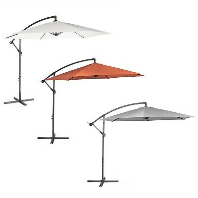VonHaus 3M Banana Parasol - Outdoor Garden Patio Cantilever Hanging Umbrella