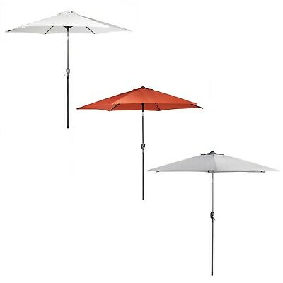 VonHaus 2.7M Steel Powder Coated Parasol Crank & Tilt Umbrella Outdoor Garden
