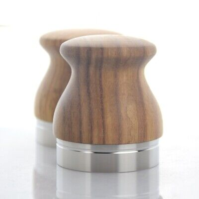 Coffee Espresso Tamper Hammer Machine Stainless Steel Base Rosewood Handle Tools