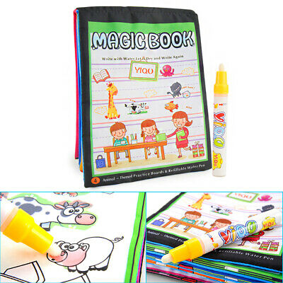 Water Drawing doodle Magic Book Board Cloth +1 Pen Coloring Painting for Toddles