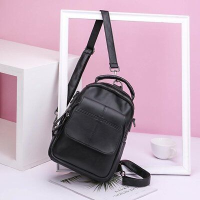Stylish Bags Simple Casual Backpack Shoulder Bag PU Leather For Travel Daily OK
