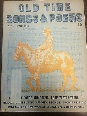 OLD TIME SONGS And Poems, Vintage Lot Of 11 - $35 00 | PicClick