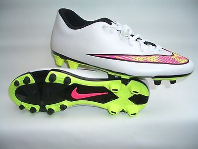 the best attitude d7232 baf9f Nike Mercurial Vortex white pink Yel football soccer sport shoes 46 47 48  12 13