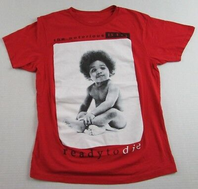 "the notorious BIG ""Ready To Die"" Album Cover Biggie Smalls Rap T Shirt Size M"