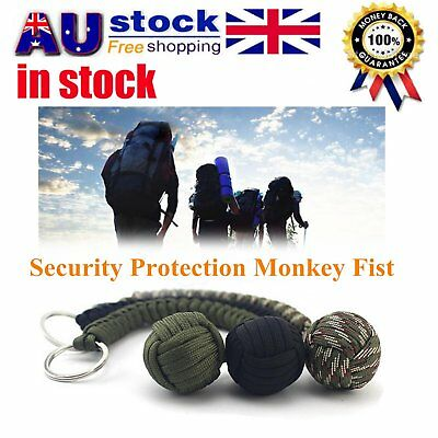 Security protecting Monkey Fist Self Defense Multifunctional Key Chain 0A9