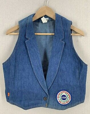 Vintage 1979 Levi's Pan Am Games Blue Denim Vest