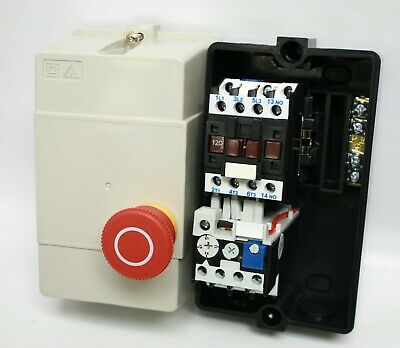3HP 230V 1PH NHD Enclosed E-STOP Compressor Starter 17-21A Overload 220VAC Coil