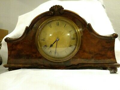 Antique Walnut 1930s/1940s Mantle Clock - perfect working order