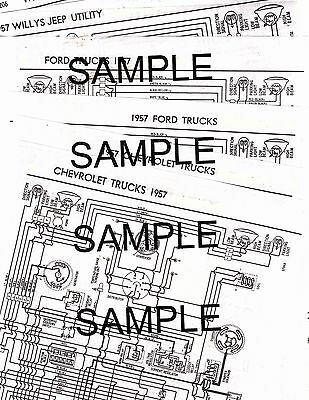 Ford Individual Frame Dimension Datasheet Available Years 1954