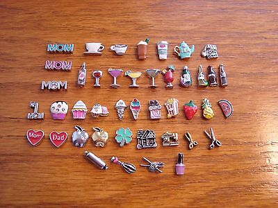 """Authentic Origami Owl """"Your Choice"""" of Charms -Hobbies, Drinks, Food (#10)+A?"""