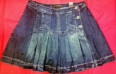 3d828e8923 Venezia by Lane Bryant Pleated Jeans Skirt with Shorts Underneath- Size 16