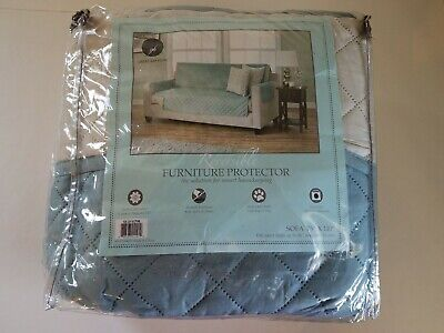 """Great Bay Home Reversible Furniture Protector Sofa Couch  Cover Pet 75"""" x 110"""""""