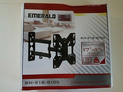 818 Emerald Full Motion Extending Arm Wall Mount for 17/'/'-47/'/' LCDs