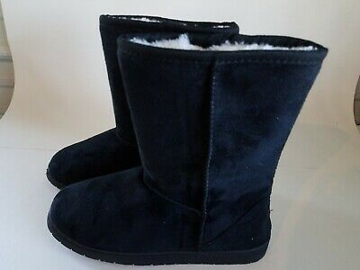 4c640783264b5a NEW OLD NAVY Womens Sherpa Lined Boots Black Mukluks Suede Warm ~ Sz ...