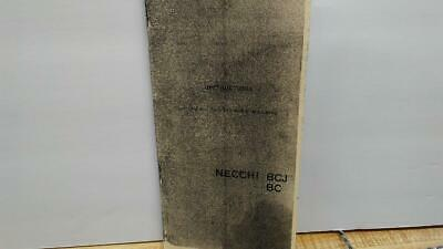 Necchi BC & BCJ Sewing Machine Instruction Manual