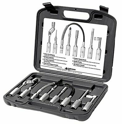Performance Tool W50049 Cordless Grease Gun Accessories, 7-Piece