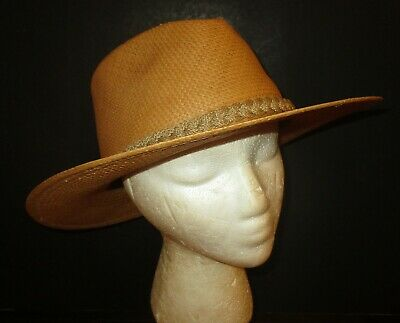 Vintage Straw  Hat Size Large Made In Usa