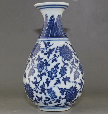 Exquisite Old CHINESE BLUE WHITE PORCELAIN FLOWER VASE OF CHINESE ANTIQUE