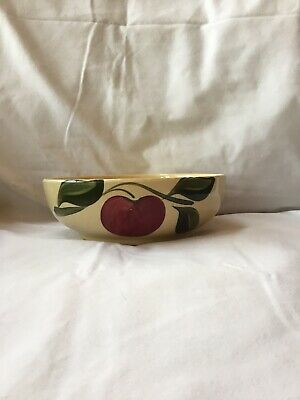 Watt Pottery #96 Apple Bowl With Advertising