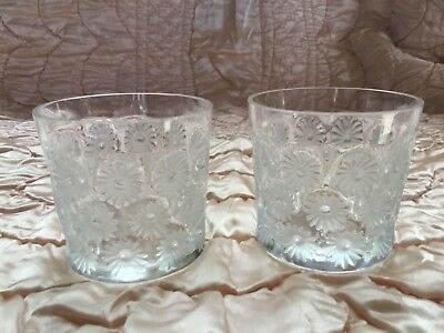 *VINTAGE* Lalique Crystal NAPSBURY (1976-) Set of 2  Old Fashioned  2 7/8