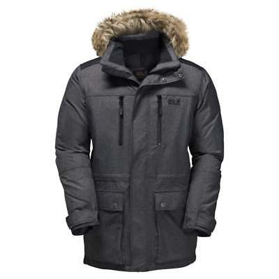 JACK WOLFSKIN MENS Anchorage Parka SMALL WINTER DOWN USED