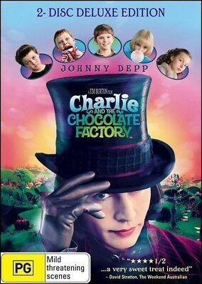 CHARLIE & the CHOCOLATE FACTORY - Johnny DEPP Freddie HIGHMORE (2 DVD SET) Reg 4
