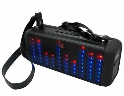 """4"""" Portable Power Active Speaker With Bluetooth, Rechargeable Battery Led Lights"""