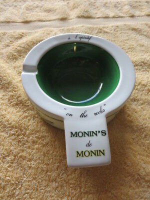 French Outside Ceramic Counter Ashtray/advertising Syrup Maker Monins