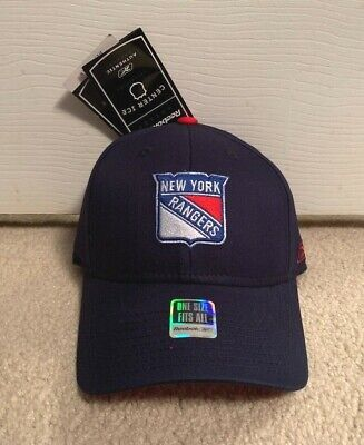New York Rangers Reebok Flex Fit Fitted Hat Nhl Center Ice Hockey Cap Ny  Adult + de58199ec
