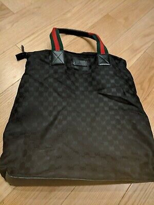 ff0353539c10 AUTHENTIC GUCCI TOTE Bag GG Black Canvas - $100.00 | PicClick