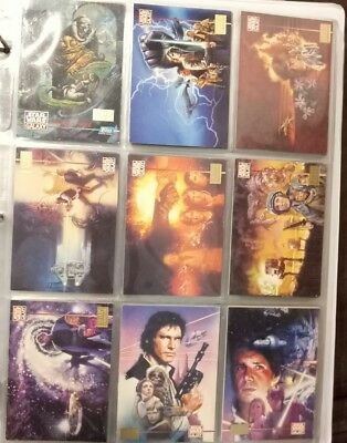 #1995 Topps - Star Wars Galaxy Series 3 Complete 1St Day Issue Set Of 90 Cards#